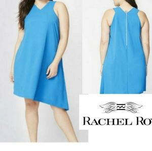 RACHEL RACHEL ROY blue asymmetrical midi dress xl